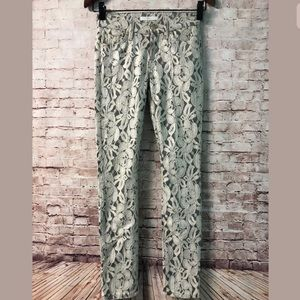 7 For All Mankind Pants Size 24 Lace Overlay